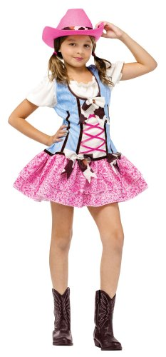 Fun World Girls' Rodeo Sweetie Costume Multicoloured (Cow Costumes On Sale)