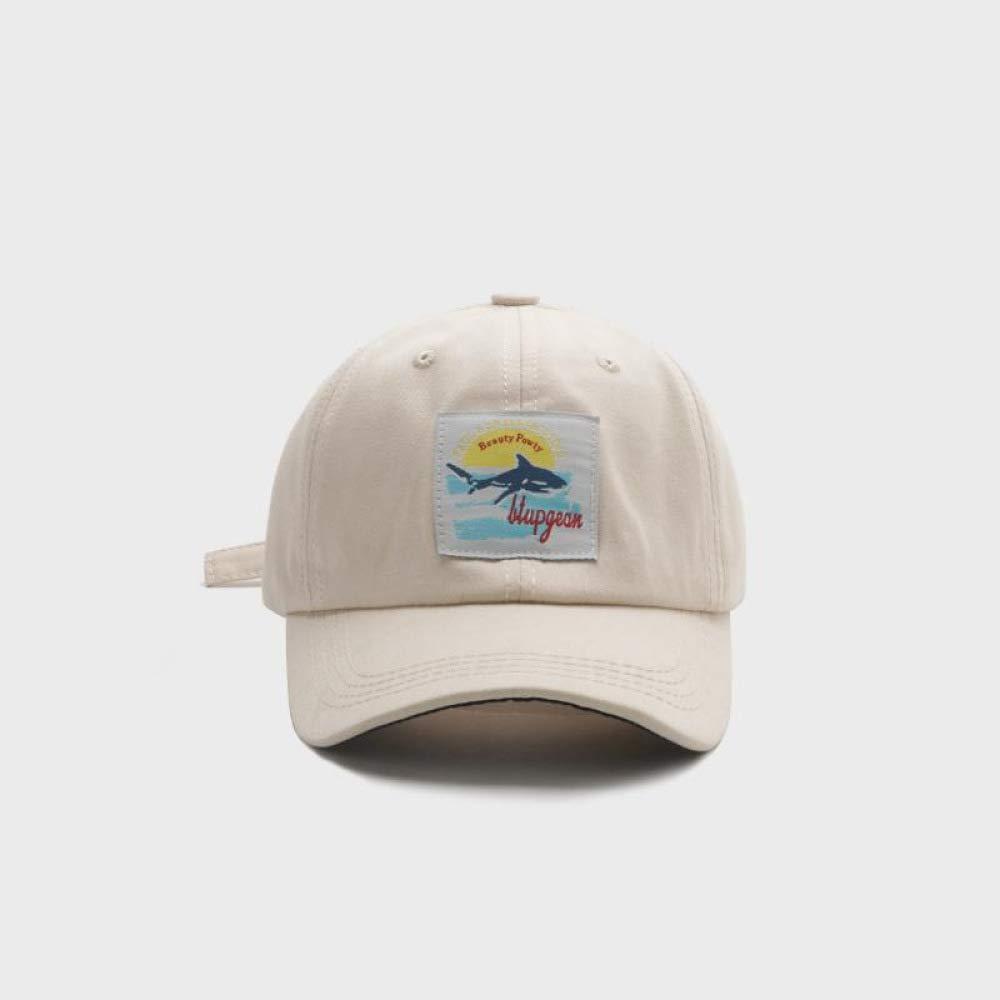 sdssup Shark Baseball Cap Hombres Wild Soft Top Cap Beige M (56 ...