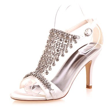 Red Stiletto Party Women'S Summer White White amp;Amp; Heel Satin Fall Evening Silver Purple Blue Wedding Spring Ivory Black qOq8Xf