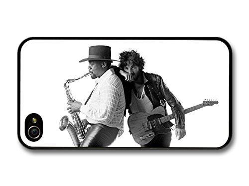 Bruce Springsteen and Clarence Clemons Saxophone Black and White coque pour iPhone 4 4S
