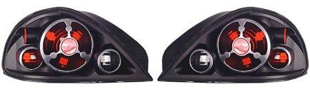 IPCW Pontiac Grand Am 1999 2000 2001 2002 2003 2004 2005 Tail Lamps, Crystal Eyes Bermuda Black-1 pair