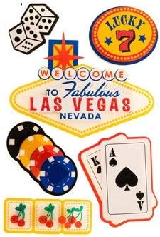 Reminisce LAS VEGAS Scrapbook Stickers and Borders