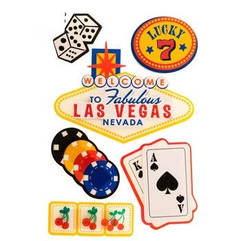 Fabulous Las Vegas 3D Travel Scrapbooking Stickers