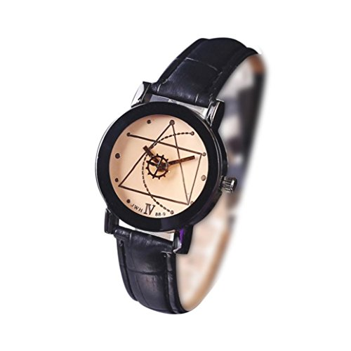 Swyss Girls Geometric Compass Pointer Multicolor Dial Watch Chic Simple Casual New Fashion Wristwatch For Women  Black