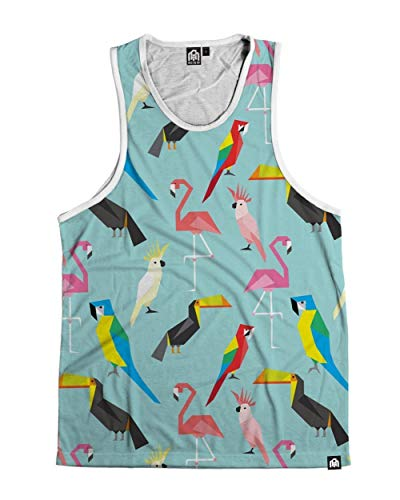 (INTO THE AM Acute Jungle Men's Sleeveless Tank Top Shirt (2X-Large))