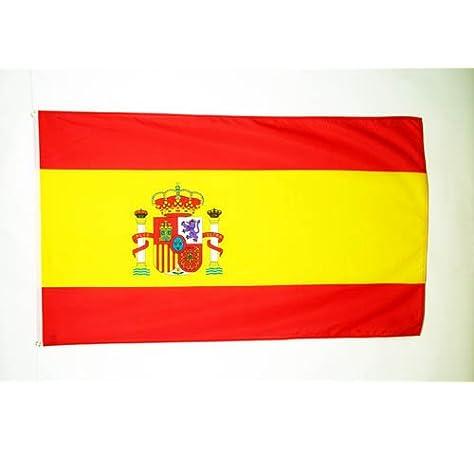 AZ FLAG Bandera de ESPAÑA 90x60cm - Bandera ESPAÑOLA 60 x 90 cm poliéster Ligero: Amazon.es: Jardín