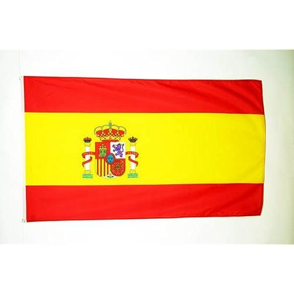 AZ FLAG Bandera de ESPAÑA 90x60cm - Bandera ESPAÑOLA 60 x 90 cm: Amazon.es: Jardín