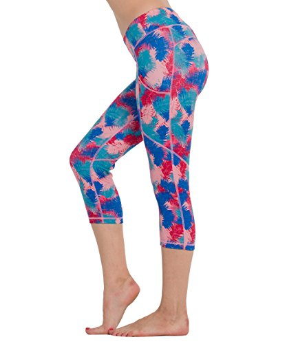 Houmous Women's Workout Yoga Capris Running Yoga Pants with Side Pockets for 5.5