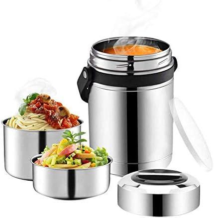大容量1.8L食品加熱食品と缶詰3層絶縁ランチボックス304ステンレス鋼の真空断熱ボトルトラベル食品保存容器のランチボックス