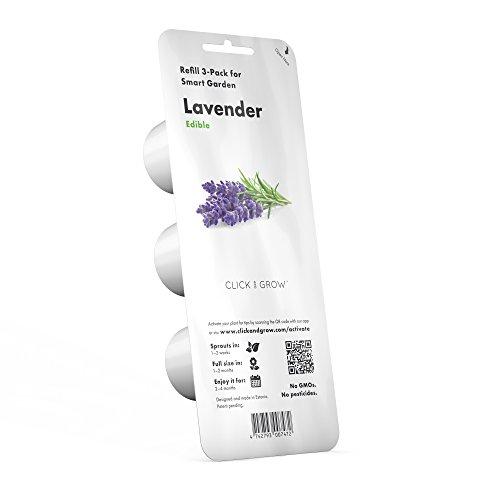 Click   Grow Smart Garden Plant Pods  Lavender 3 Pack