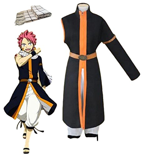 (GK-O Fairy Tail Costume Natsu Dragneel 3rd Ver Cosplay Halloween (Asian Size)