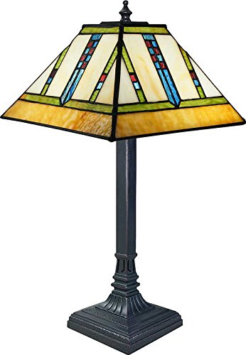 Frank Lloyd Wright Stained Glass Table Lamp - 17-1/2
