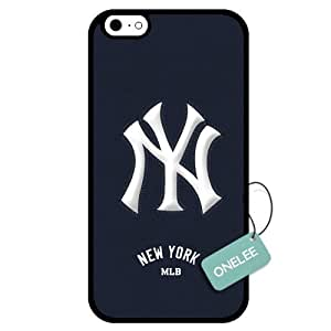 Onelee(TM) - Customized MLB New York Yankees Team Logo Design TPU Apple iPhone 6 Case Cover - Black 01