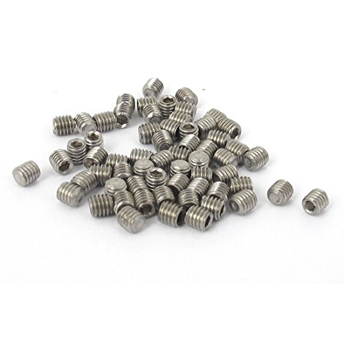 uxcell M3x3mm Stainless Steel Hex Socket Set Cup Point Grub Screws 50pcs