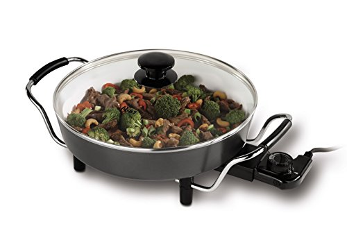 Oster CKSTSK12WC-ECO DuraCeramic Round Electric Skillet, 12-Inch, (Oster 12 Electric Skillet)