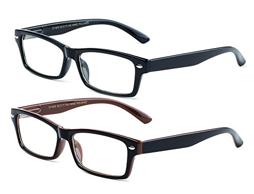 Newbee Fashion - Simple Sleek Squared Fashion Eye Glasses Clear Lens Frames for Women and Men Cosplay Accessories ()