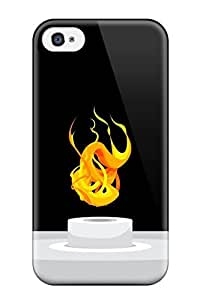 Muriel Alaa Best 5836051K56981742 New Style Hard For Apple Iphone 4/4S Case Cover - Fire