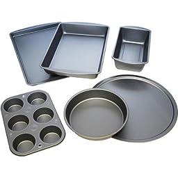 BakerEze 6-Piece Non-stick Bakeware Set, Provides Uniform Heating So Food Bakes Evenly
