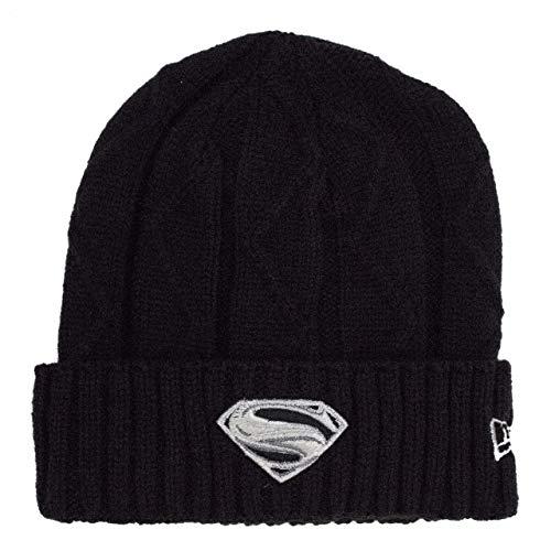 New Era Superman Krypton Weave Silver Symbol Unisex Knit Beanie]()