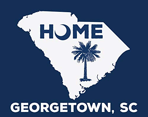 (R and R Imports Georgetown South Carolina State Shape Map Summer Trendy Souvenir 5