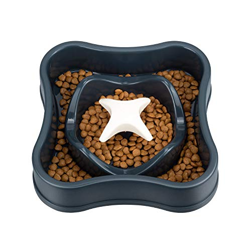 IAMUQ Slow Feeders Health Dog Food Bowl Fun Interactive Bloat Stop Dog Cat Bowl