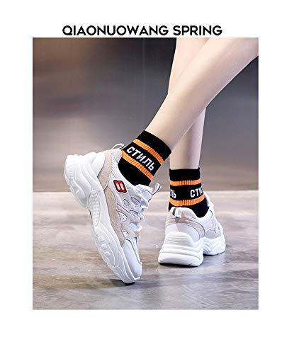 Marée Version Sauvage Baskets Chaussures 7 Size Taille Printemps 7 5 Casual Blanches Ins Du Zhijinli Femme Coréenne qvECAxw