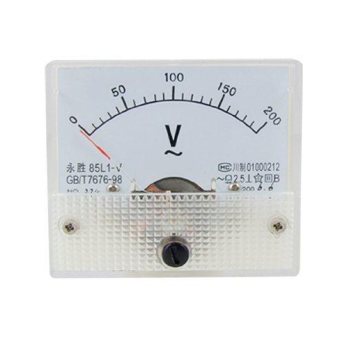 eDealMax 85L1 AC 0-200V rettangolo analogico pannello Tester di Volt Gauge by eDealMax