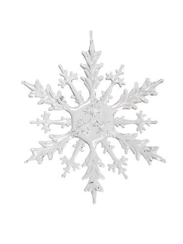 Abbott Collection Flat Acrylic Snowflake Ornament, 12