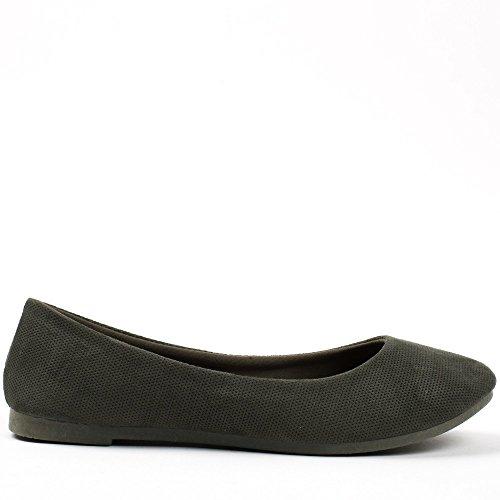 Ideal Shoes, Damen Ballerinas Taupe