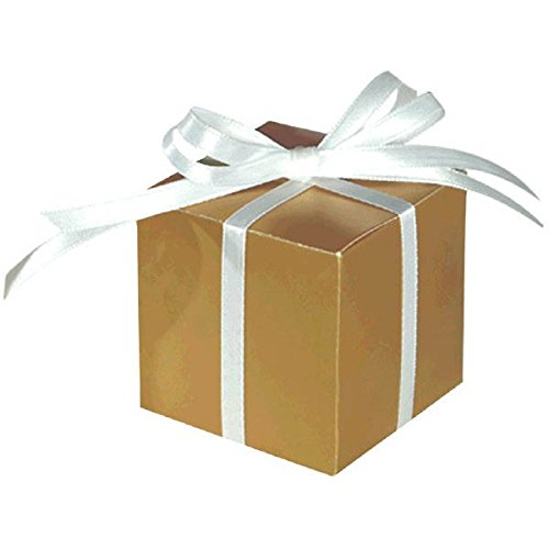 "Price comparison product image Mega Pack Classic Box Party Favour, Gold, Paper, 2"" x 2"", Pack of 100"