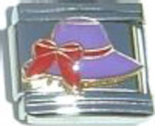 Purple Hat Italian Charm