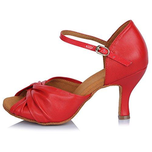 Donna Scarpe SWDZM Ballo Rosso Model da 810 AF Latino Standard Ballroom UfggSx
