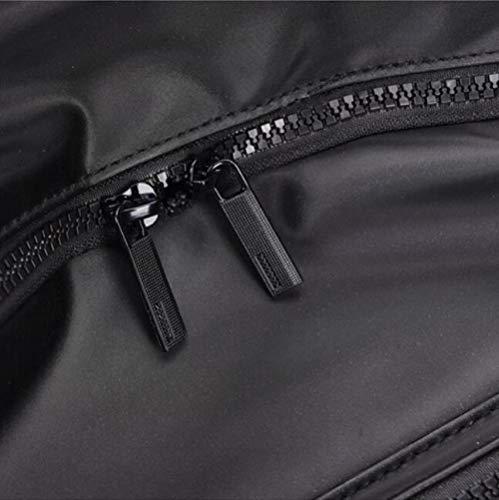 Simple Men's Retro Bag Backpack Dhfud Waterproof Black Student nYqwOw6x54