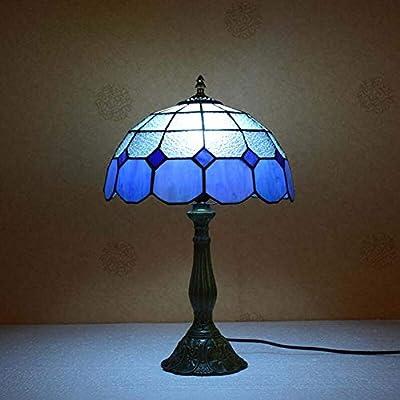 Lámparas de mesa Tiffany de cristal tintado a mano de 12 pulgadas ...