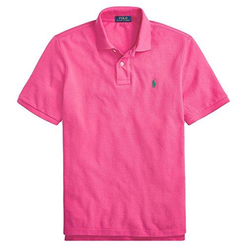 Polo Ralph Lauren Men Custom Fit Mesh Pony Logo Shirt (XXL, CurrantPink) ()