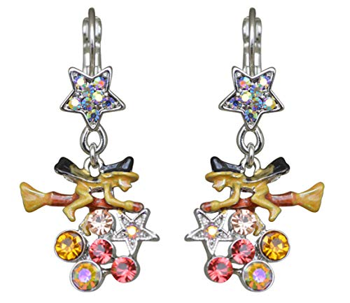 Kirks Folly Witches Brew LEVERBACK Earrings silvertone