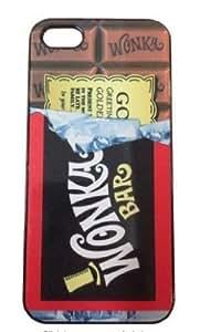 Willy Wonka Golden Ticket Chocolate Bar Hard Case for Apple iPhone 6 (4.7 inch) i6 Hard Case - -Black