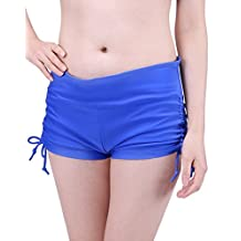 HDE Women's Mini Swim Shorts Adjustable Ties Swimsuit Bikini Bottoms Boy Shorts