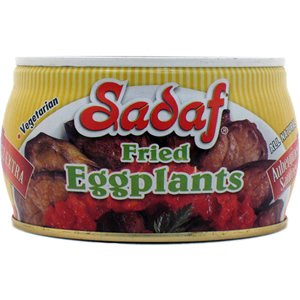 Sadaf Fried Eggplant Slices, 13 Oz, Brown