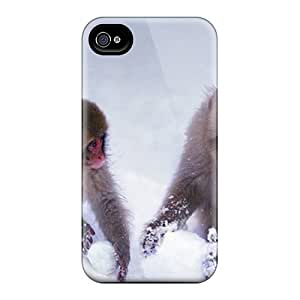 For FBqBqPk7077OcWSN Rednose Monkeys Protective Case Cover Skin/iphone 4/4s Case Cover