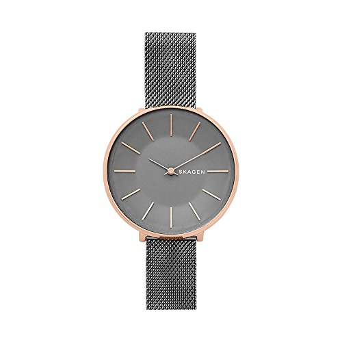 - Skagen Women's Karolina Japanese-Quartz Watch with Stainless-Steel Strap, Grey, 14 (Model: SKW2689)
