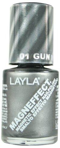 Layla Bag (Layla Magneffect Nail Polish, Gunmetal, 1.9 Ounce)