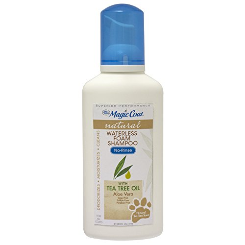 - Four Paws 100526415 Magic Coat Dry Shampoo for Dogs with Tea Tree Oil, 6 oz