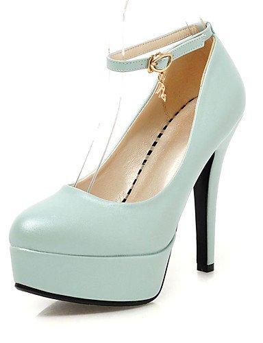 ZQ Zapatos de mujer-Tac¨®n Robusto-Tacones / Plataforma-Tacones-Oficina y Trabajo / Vestido / Casual-Semicuero-Negro / Azul / Rosa / Blanco , pink-us10.5 / eu42 / uk8.5 / cn43 , pink-us10.5 / eu42 / u white-us3.5 / eu33 / uk1.5 / cn32