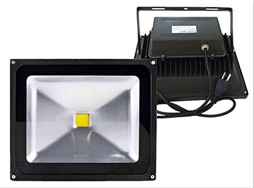 Trendmart® Led Flood light Lamp 50w Warm White With Plug Waterproof IP 65 Outdoor Security Wash Flood Light , Landscape Lighting(Black Case )
