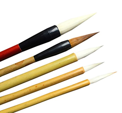UE STORE Chinese Paint Brush Set 5 Pcs Ink Painting Brushes ()