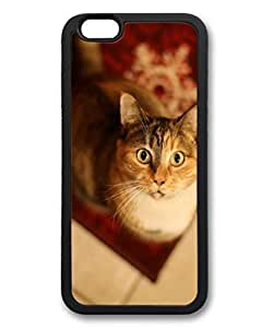 Cat Looking Up Custom Personalized iphone 4 4s Design DIY Back Case for iphone 4 4s TPU Black -1210217