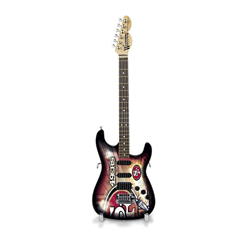 Woodrow Guitar by The Sports Vault NFL San Francisco 49ers Collectible Mini NorthEnder Guitar (San Francisco 49ers Limited Edition Football)
