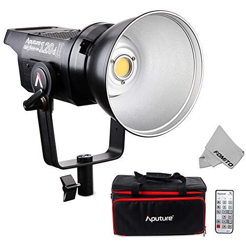 Aputure LS C120d II KIT - COB Light DMX Control 180W LED Continuous V-Mount Video Light CRI96+ TLCI97+ 5 Lighting Effects Bowens Mount Dual Power Supply 2.4G Remote Control ()