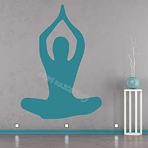 Gimnasio Yoga Pose Ejercicio Etiqueta de La Pared Chica Fitness ...